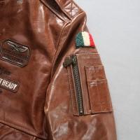 кожаная куртка бомбер FIGHTER BOMBER INDIANS A-2