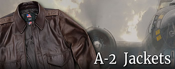 мужские кожаные бомберы A-2