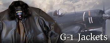 мужские кожаные бомберы G-1
