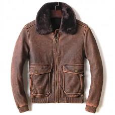 кожаная куртка бомбер винтаж
